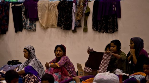 Rohingya women at the temporary detention centre in Langkawi. Nearly 2000 people were rescued off the Indonesian and ...