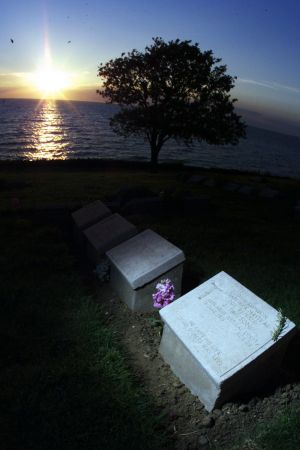 "The grave of John Simpson Kirkpatrick at Anzac Cove: ""Australians have adopted Kirkpatrick as part of the mythology of ..."
