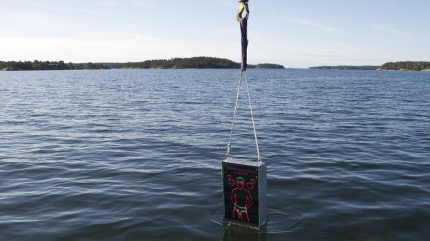 Meant to repel homophobic Russians ... The Singing Sailor, a waterproof box with a neon sign of a sailor in his ...