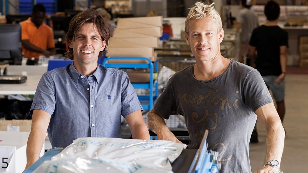Surfstitch chief executive Justin Cameron (right, pictured with co-founder Lex Pedersen) is mulling a private ...
