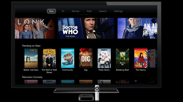The current Apple TV and remote.