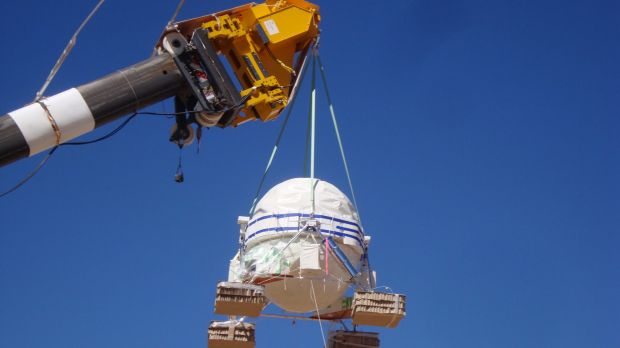 Scientists had to send the balloon 37 kilometres up, to the edge of earth's atmosphere.