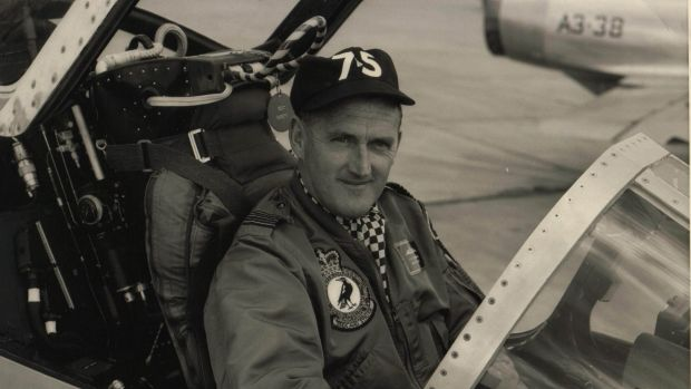 Wing commander Jim Flemming, in the pilot's seat of a Mirage fighter aircraft based at Williamtown RAAF Base and ...
