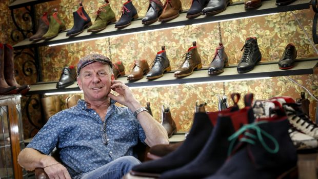 Manfred Schopf, owner of Manfred's Shoe Lounge.