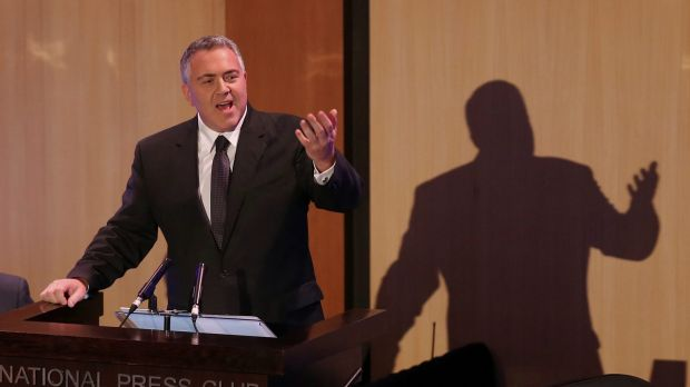 Treasurer Joe Hockey delivers his post-budget address to the National Press Club on Wednesday.