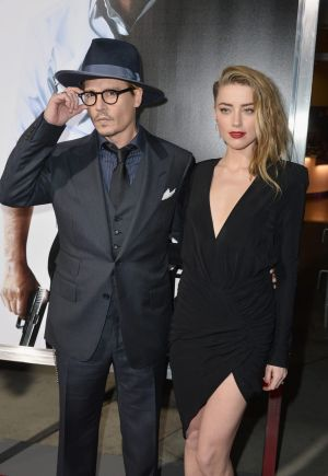 Johnny Depp and wife Amber Heard.