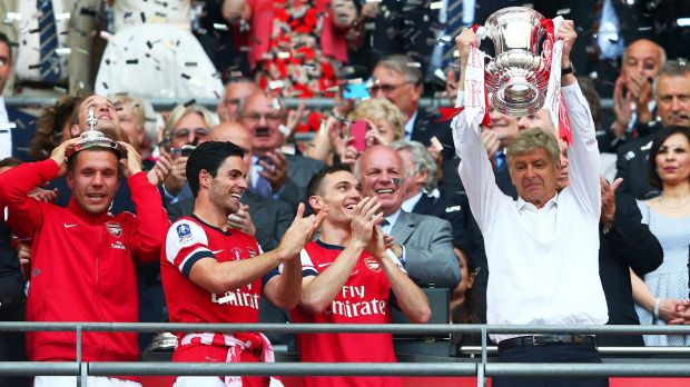 Arsenal are hunting a third consecutive FA Cup title.