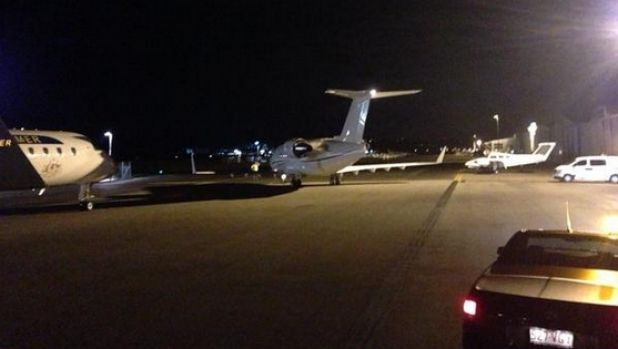 A private plane, possibly with Johnny Depp's dogs on board, leaves Queensland.
