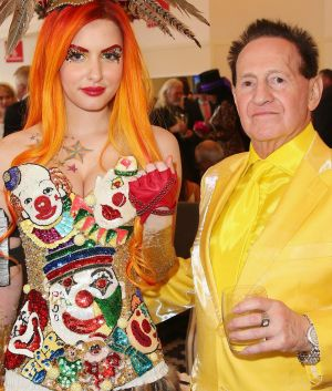 Happier times: Gabi Grecko after she got engaged to her now estranged husband, Geoffrey Edelsten, in 2014.