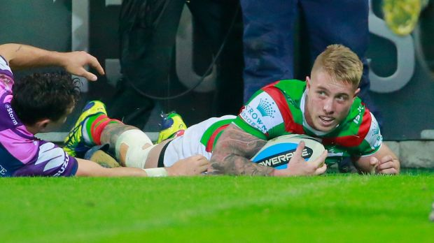 Doing his best: Aaron Gray has amassed five tries in three first-grade games in 11 days.