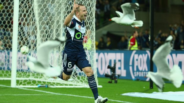 Club man: Leigh Broxham will play his 200th game for Melbourne Victory.