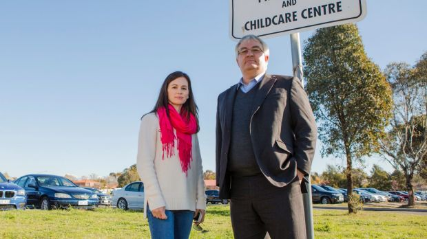 Gold Creek P&C president Michele Justin and former president Michael Rush criticise the development plan.