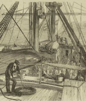 Above decks of the Culloden. Illustrated London News, 17 August 1850.