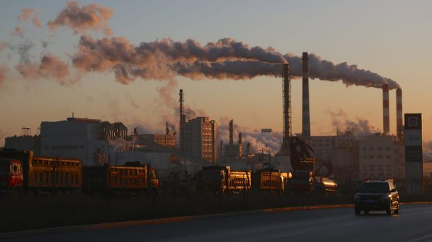 Coal-fired power plant in China.
