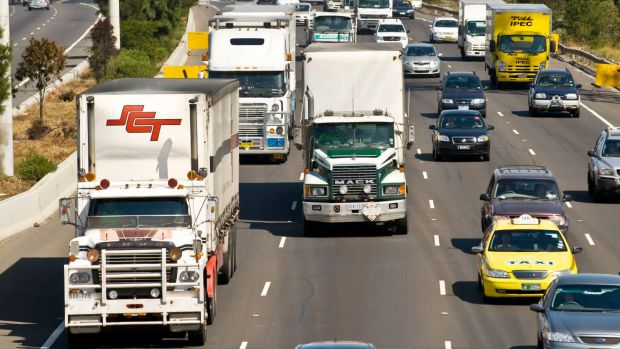 Non-local trucks that travel along the 'NorthConnex' will be fined if they avoid the toll road.