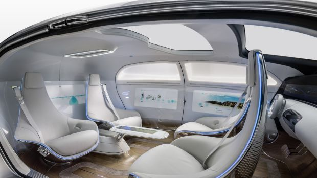 Mercedes F 015 driverless interior. Imagine getting in your car and it takes you where you want to go, then you just ...