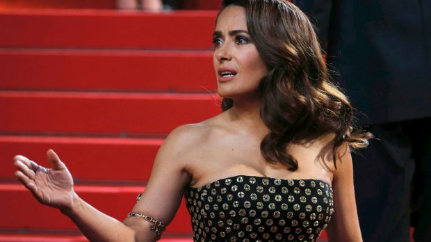 Salma Hayek's dog was shot dead on her Washington ranch.