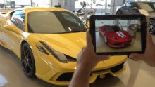 Ferrari have developed an app allowing customers to customise their car using augmented reality technology.
