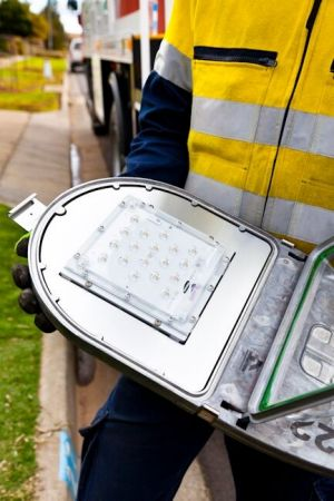 LED lamps emit a longer lasting, bright white light and are replacing old incandescent street light bulbs in nine ...