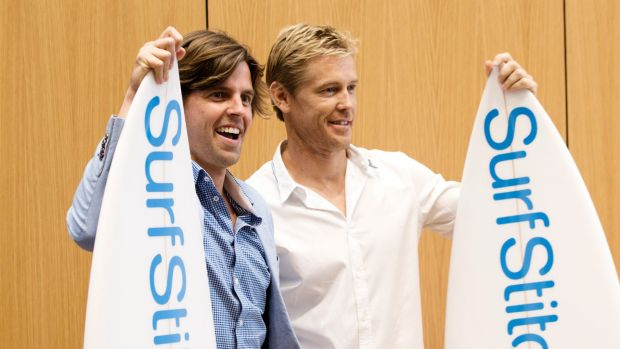 Surfstitch, founded by Justin Cameron (r) and Lex Pedersen (l) is facing a second class action from disgruntled shareholders.