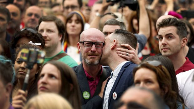 Following their conscience: Emotions flow in Dublin as Ireland votes in favour of allowing same-sex marriage.