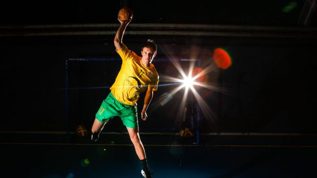 Canberra's Luke Behrendorff of the Australian handball team.