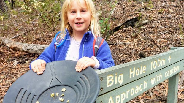 """Sarah finds """"gold"""" at the Big Hole."""