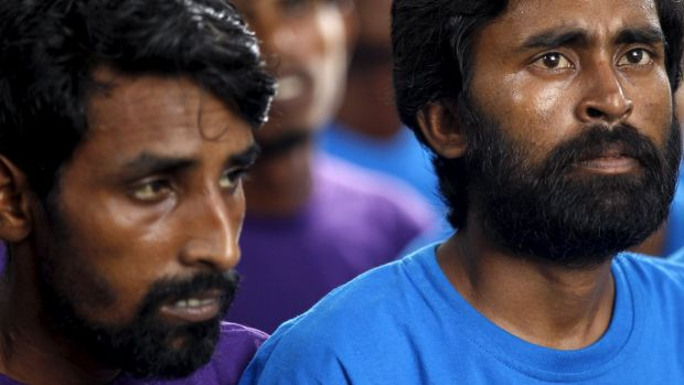 Rescued by the Myanmar navy: Images of Rohingya and Bangladeshi boat people have prompted international outrage.