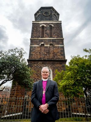 Archbishop Philip Freier at St James Church in West Melbourne.