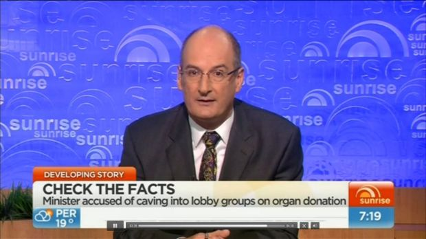 David Koch resigned from the Organ and Tissue Authority's advisory council on live television.