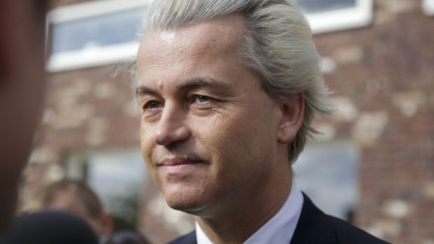 Anti-immigration politician Geert Wilders, leader of the Dutch Party for Freedom.