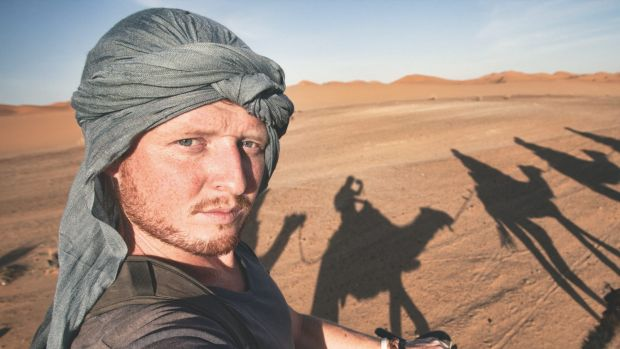 The author in the Moroccan Sahara.