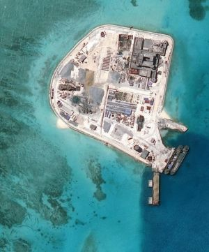 China is building artificial islands, creating tensions in the South China Sea.