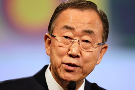 "UN Secretary-General Ban Ki-Moon: ""All of us most do more, the global thermostat continues to rise."""