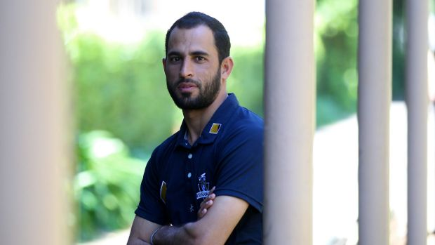 Waiting: Fawad Ahmed was the 12th man in Australia's first Test win.
