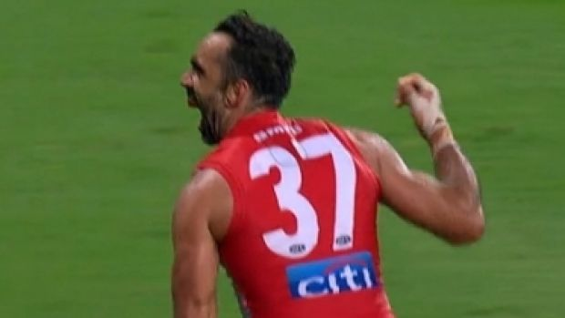 Adam Goodes' post-goal Indigenous war dance.