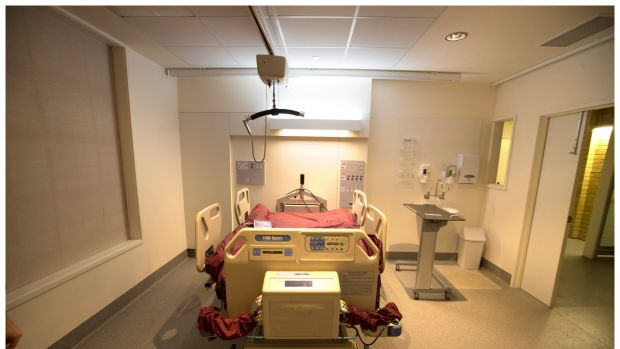 A bed designed for an obese patient.