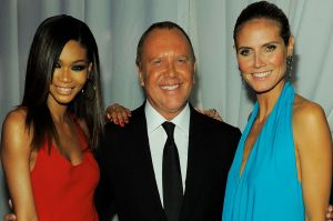 Chanel Iman, Michael Kors, and Heidi Klum at the Annual amfAR Inspiration Gala at The Museum of Modern Art in 2011.