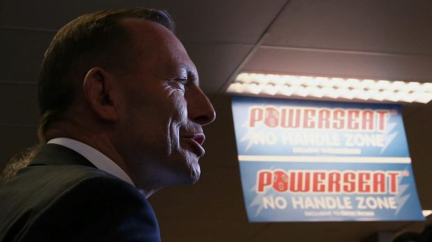 Prime Minister Tony Abbott, during their visit to Harvey Norman in Canberra, said his focus was on passing key budget ...