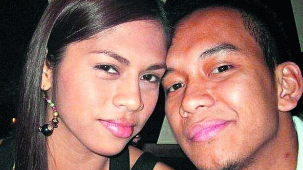 Roy Tabalbag with his former girlfriend Geecy Rebucas.