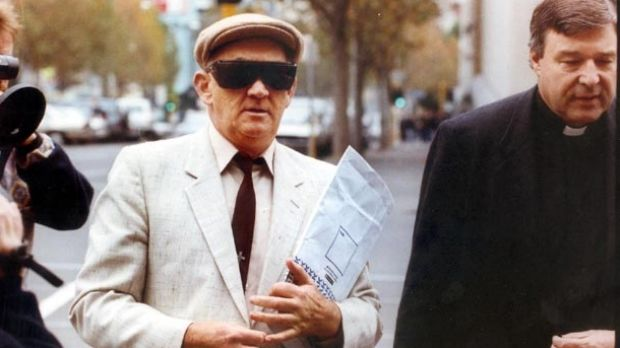 George Pell, right, and paedophile priest Gerald Ridsdale before a court appearance in 1993.