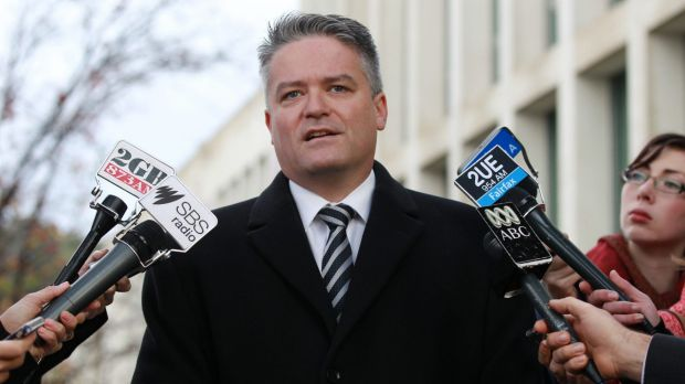 Finance minister Mathias Cormann says there were never any revenue costings carried out on the May budget measure to tax ...