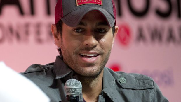 Enrique Iglesias talks about his music during a Billboard Latin Music Conference in Miami in May.