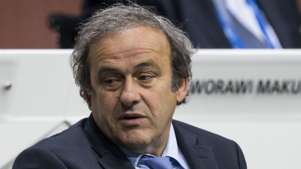 Out of the running: Michel Platini.
