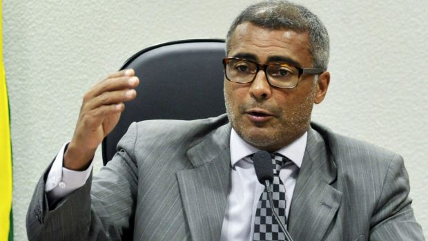 Former Brazilian footballer and current Senator Romario celebrated Sepp Blatter's resignation on Tuesday and demanded ...