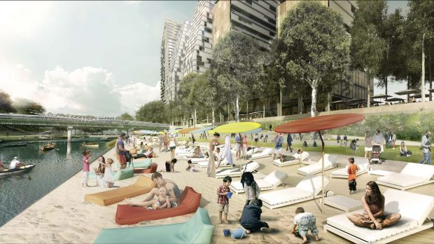 """The plan for a Parramatta """"city beach"""" has drawn criticism and has been impractical and a waste of money."""