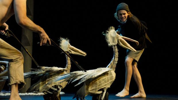 A scene from Storm Boy at the Canberra Playhouse.