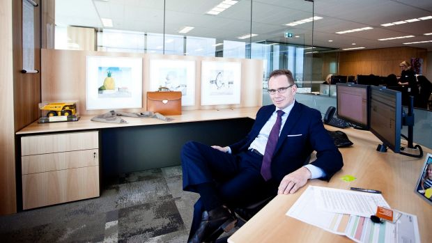 BHP Billiton CEO Andrew Mackenzie in his office in Melbourne.