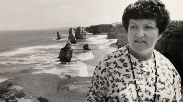 Conservation Minister Joan Kirner at the Twelve Apostles in February 1988.
