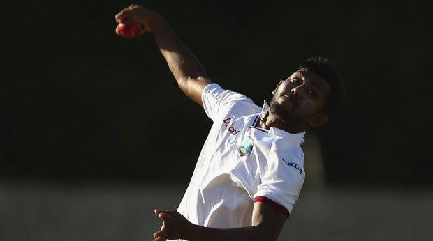 On fire ... Devendra Bishoo of West Indies has ripped through Australia's top order batsmen in a brilliant display of ...